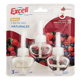 Repuestos desodorante ambiental eléctrico Berries 3 unidades