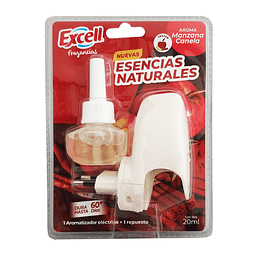 Desodorante ambiental eléctrico con repuesto Manzana canela