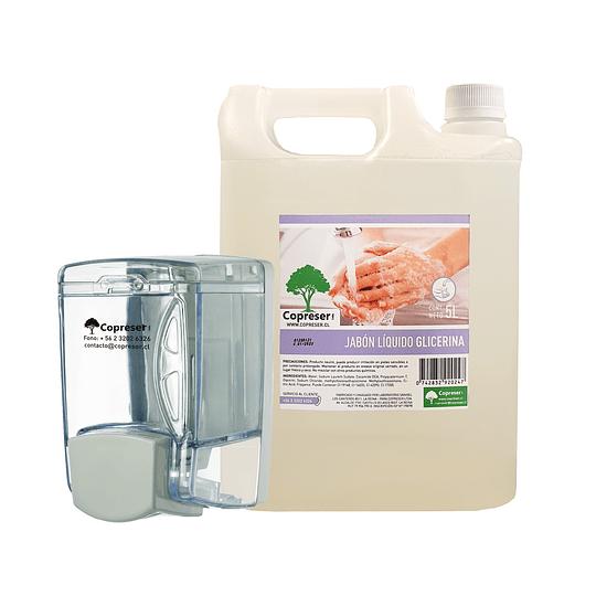 Jabón glicerina 5 litros + Dispensador 400 ml