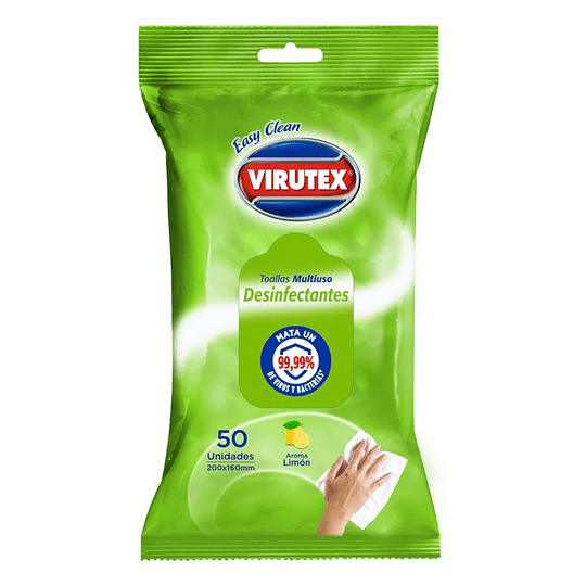 Paños húmedos desinfectantes 50 unidades