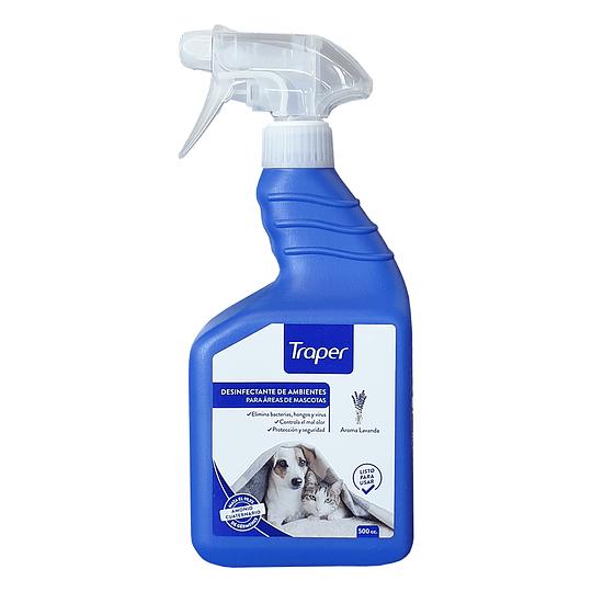 Desinfectante de ambientes mascotas con amonio cuaternario