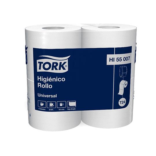 Papel higiénico 50 m hoja simple (4 rollos)