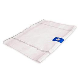 Trapero de algodón blanco 50 x 70 cm con ojal