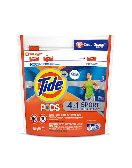 Tide Pods Sports 15 unid