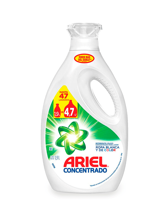 Ariel Power Liquid Detergente liquido concentrado 1,9 L