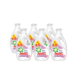 Ariel Power Liquid Detergente liquido concentrado + Toque Downy 6 x 1,9 L