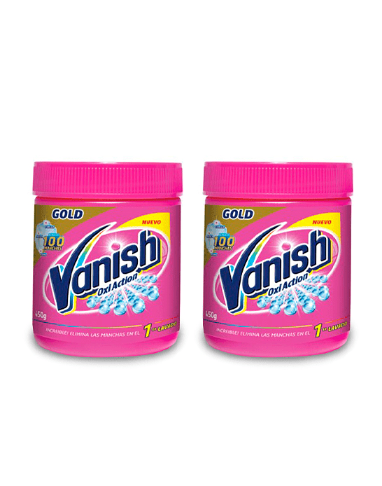 Vanish Quitamanchas ropa color polvo pote 2 x 450 gr