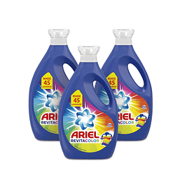 Ariel Power Liquid Detergente liquido concentrado Revitacolor 3 x 1,8 L