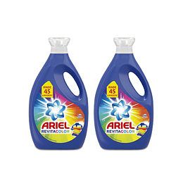 Ariel Power Liquid Detergente liquido concentrado Revitacolor 2 x 1,8 L