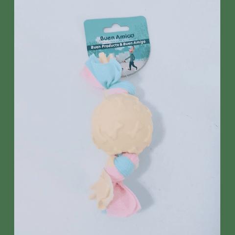 Juguete. Pelota pastel  huesitos en relieve para perro
