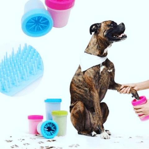 Limpia patas para perro