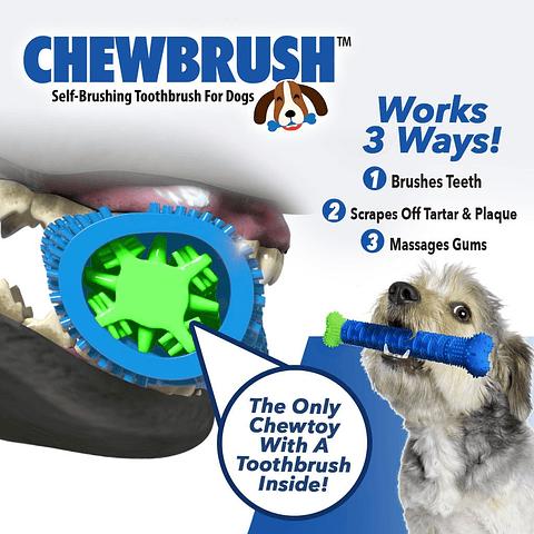 Juguete ChewBrush limpiadientes para perros
