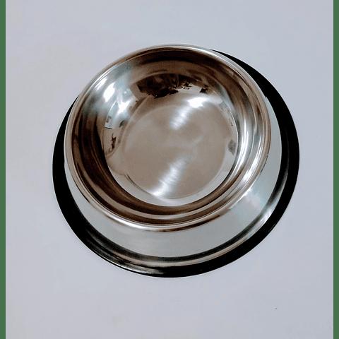 Plato comedero de metal de 750 cc