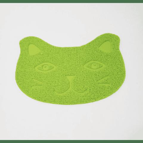 Alfombra con forma de cara de gato 40 x 30 cms