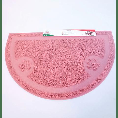 Alfombra media luna para platos o comederos 60 *38 cms.
