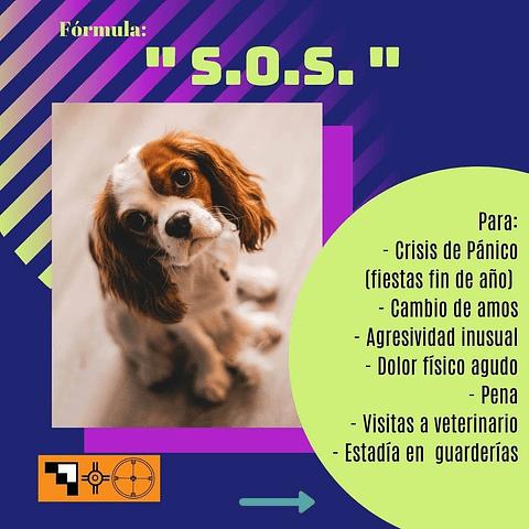 Terapia floral para mascotas, formato gotas. SOS