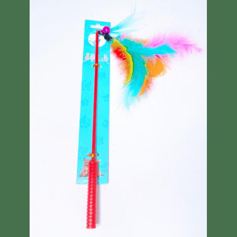 Juguete Varita con plumas de colores para gatos