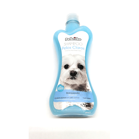 Sanitario. Shampoo pelo claro para perro