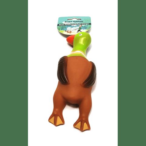 Juguete. Pato de goma para perro cachorro