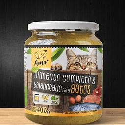Alimento húmedo completo y balanceado para gato AMA formato 400 g