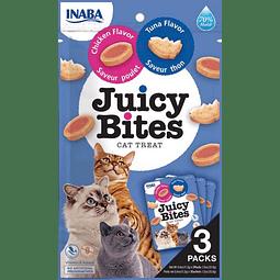 Juicy Bites Chicken y Tuna, snack premio para gato