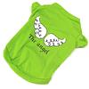 Polera verde estampada con Alas (talla m)