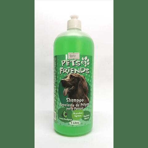 Sanitario. Shampoo repelente de pulgas para perro.