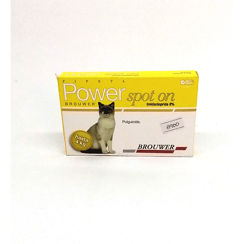 Sanitario. Pipeta Power Spot On Gatos hasta 4 kg.