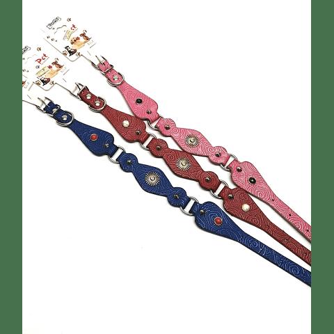 Collar Eco cuero decorados, 40cms de largo para perro.