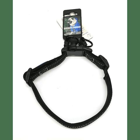 Collar acolchado para perro. Color negro.