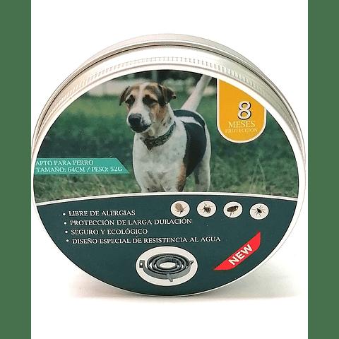 Collar repelente de pulgas para perro. Duración 8 meses.