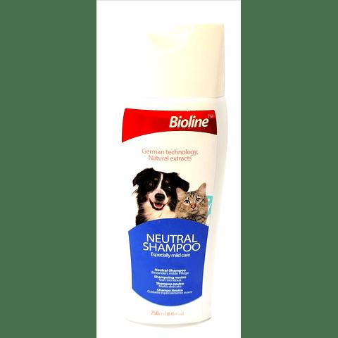 Shampoo Neutral Bioline, 250ml, para perro.