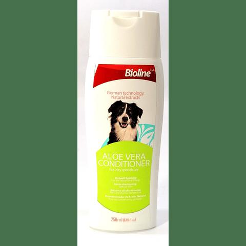 Acondicionador Aloe Vera Bioline para perro, 250ml.