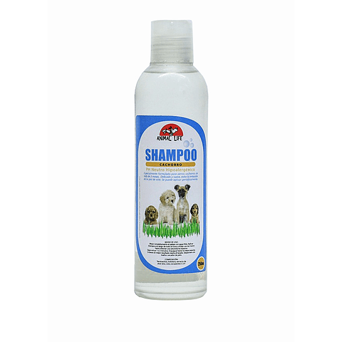 Sanitario. Shampoo hipoalergénico  para perros cachorros.