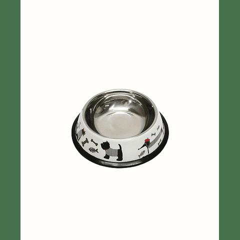 Plato comedero para perro/gato 200cc