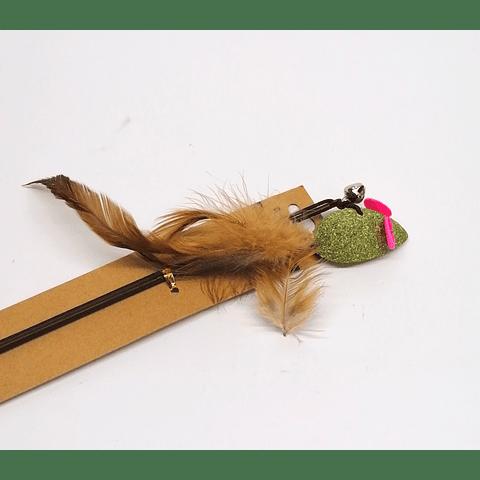 Ratón de catnip con vara