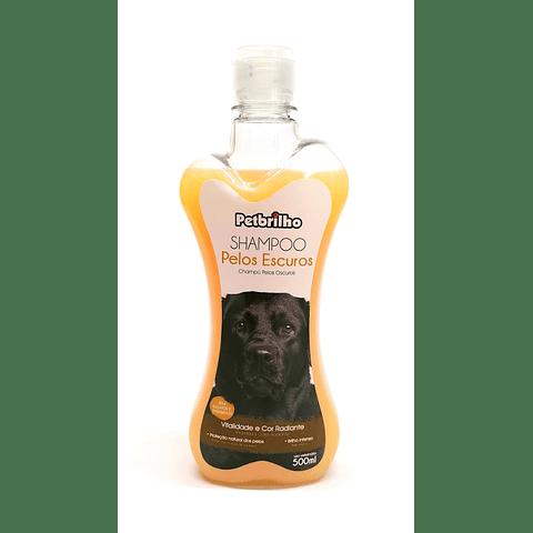 Shampoo petbrilho para perro pelaje oscuro.