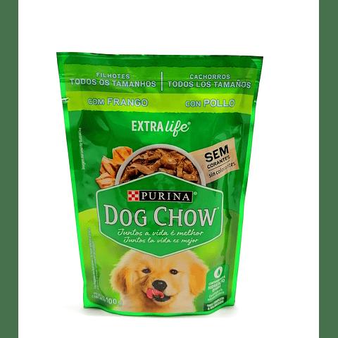 Dog Chow Purina. Alimento húmedo sabor a pollo, para  perritos cachorros.