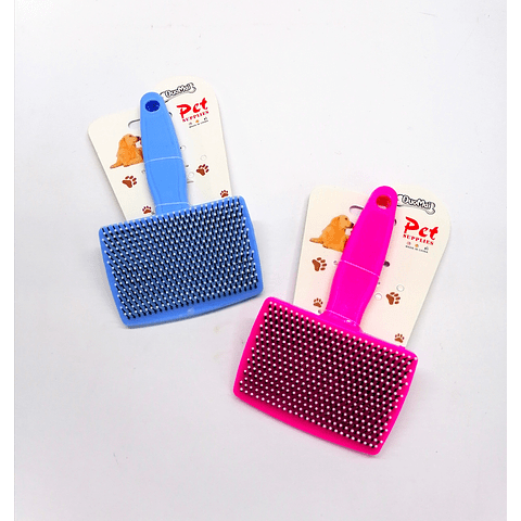 Cepillo rectangular para perro/gato.