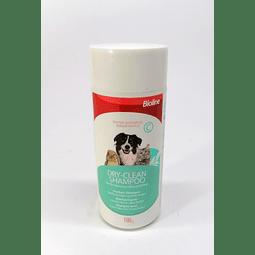 Shampoo en seco BIOLINE 100 GR, perro, gato y conejo.