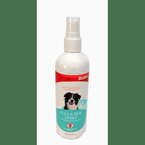 Sanitario. Spray anti pulgas y garrapatas para perros.