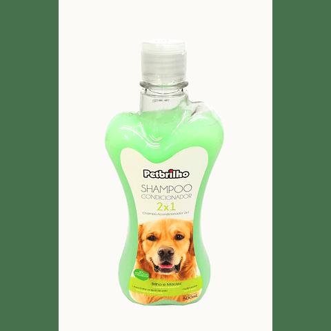 Sanitario.  Petbrilho 2x1 shampoo y acondicionador para perro.