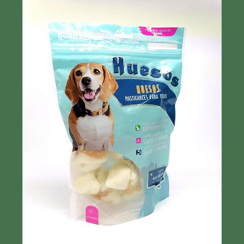 Snack hueso de cartílago blanco (paquetes de 6 unidades)  para perros.