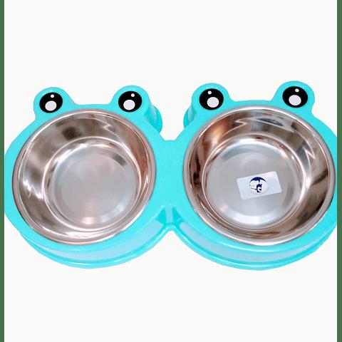 Plato comedero doble para· comida / agua