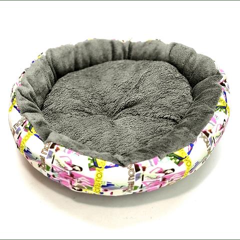 Cama de felpa, diseño femenino (35, 45 y 55 cms.), para perro/gato.