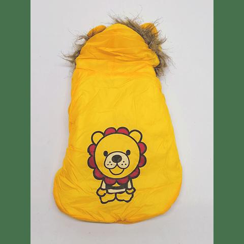 Parka León amarilla broches