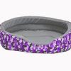 Cama ovalada de espuma para gato/perro color base violeta