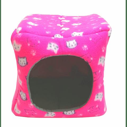 Casa cama de polar para gato