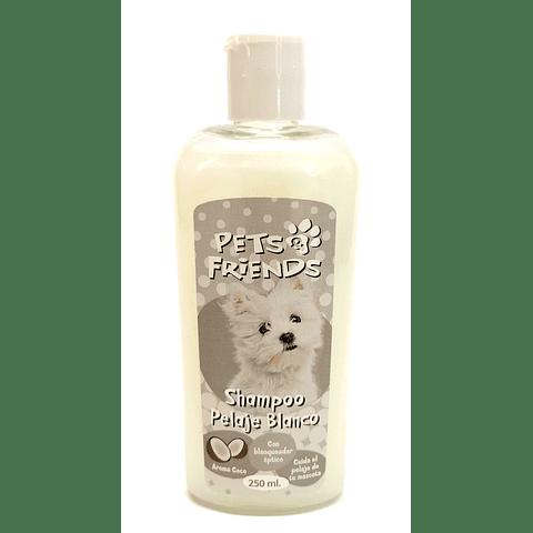 Shampoo pets friends pelaje blanco para perro.