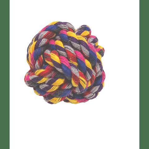 Juguete. Pelota de cuerda tejida  para perros.